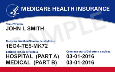 New Medicare Card Example